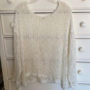 Boutique white knit top